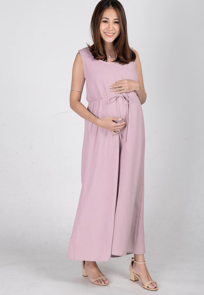 Ariella Nursing Jumpsuit in Light Pink