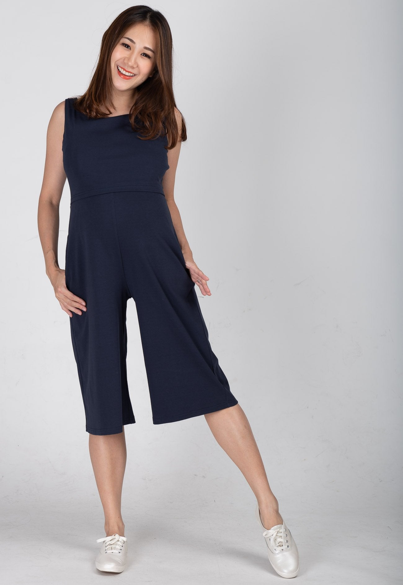 016115d12ee Smart Casual Nursing Jumpsuit in Navy – Jump Eat Cry