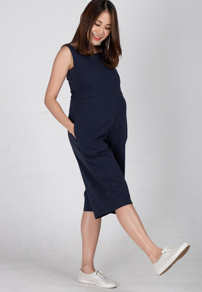 Smart Casual Nursing Jumpsuit in Navy