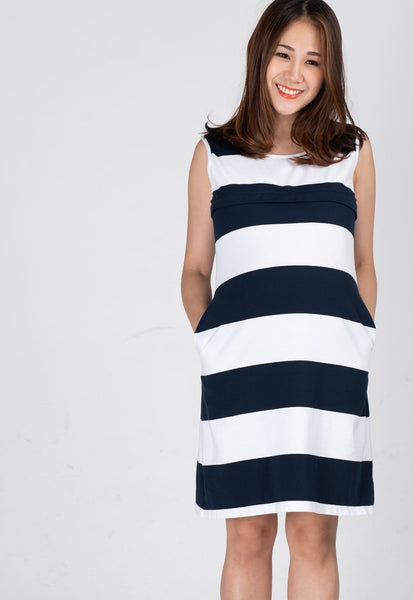 Cotton A-Cut Nursing Dress