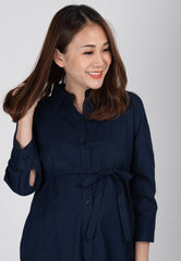 Mothercot Boyfriend Nursing Shirtdress in Navy  by JumpEatCry - Maternity and nursing wear