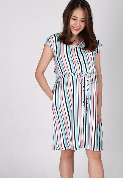 Chandra Striped Nursing Dress