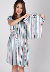 Mothertots Chandra Striped Shirt  by JumpEatCry - Maternity and nursing wear