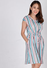 Mothercot Chandra Striped Nursing Dress  by JumpEatCry - Maternity and nursing wear