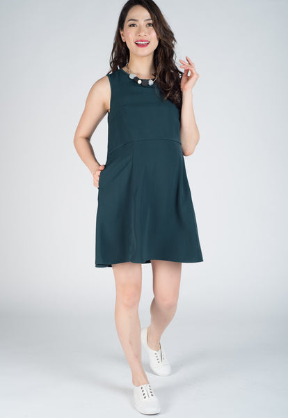 Maxine Flare Cut Nursing Dress