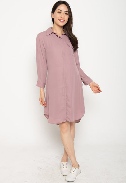 Sejal Nursing Shirtdress in Blush
