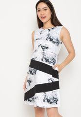 Lillie Marbled Nursing Dress  by Jump Eat Cry - Maternity and nursing wear