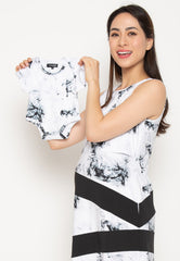 Mothertots Lillie Marbled Romper  by JumpEatCry - Maternity and nursing wear