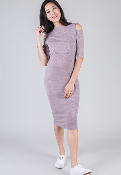 Pink Callie Midi Nursing Dress