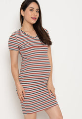 Paige Bodycon Nursing Dress in Rust Nursing Wear Mothercot