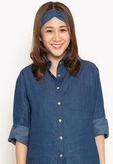 Cotton Jeans Casual Nursing Top in Dark Jeans Nursing Wear Mothercot