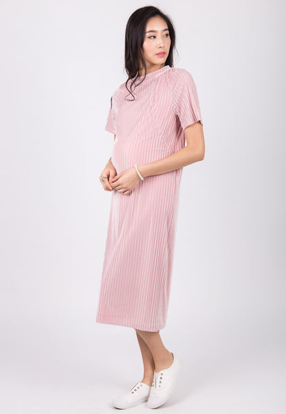 Juliana Velvet Nursing Dress