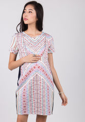 Mothercot SALE Zigzag Nursing Dress  by JumpEatCry - Maternity and nursing wear
