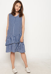 Mothercot Ruffles No Doubt Nursing Dress in Blue  by JumpEatCry - Maternity and nursing wear