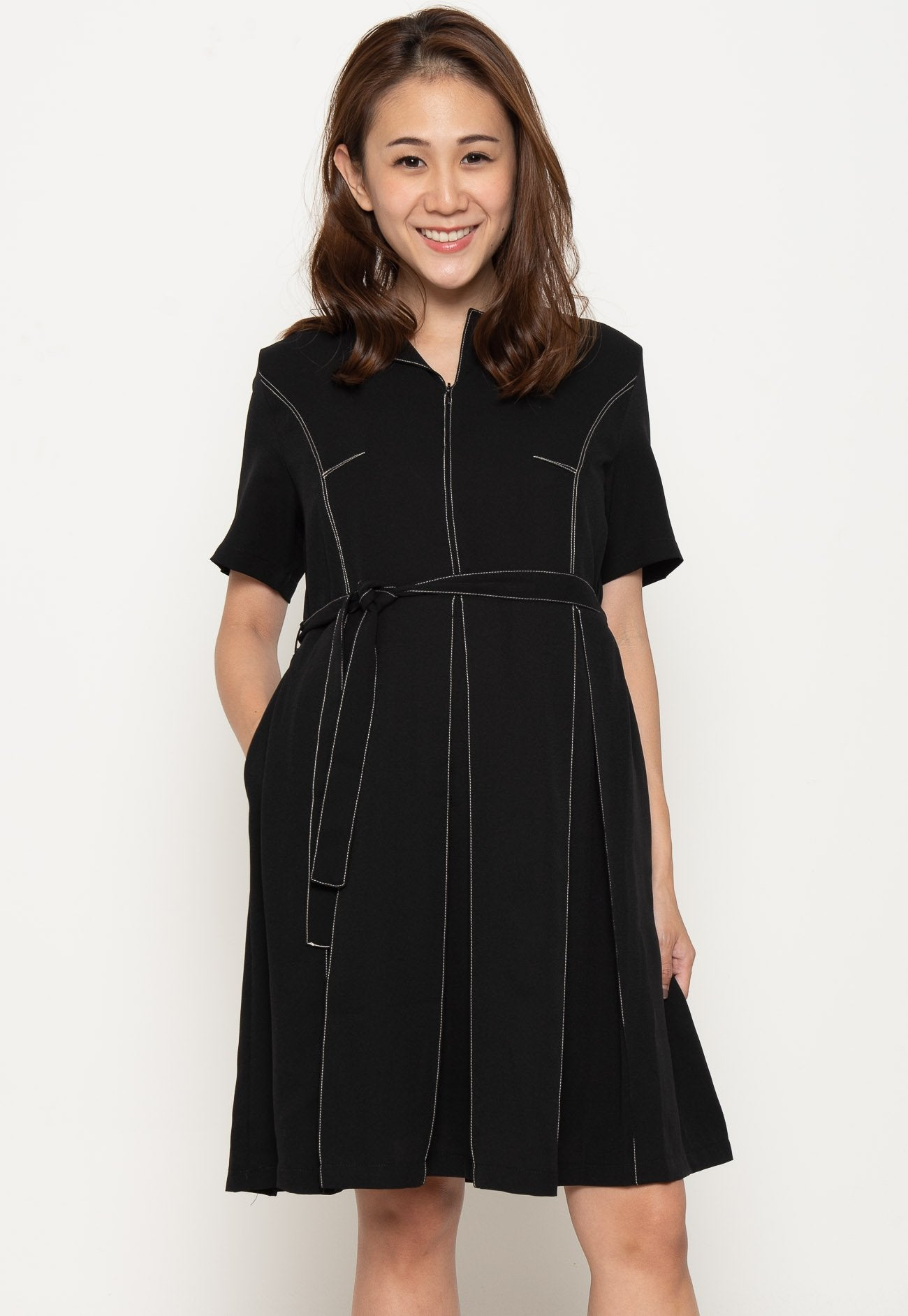 Another Work Day Nursing Dress in Black  by Jump Eat Cry - Maternity and nursing wear