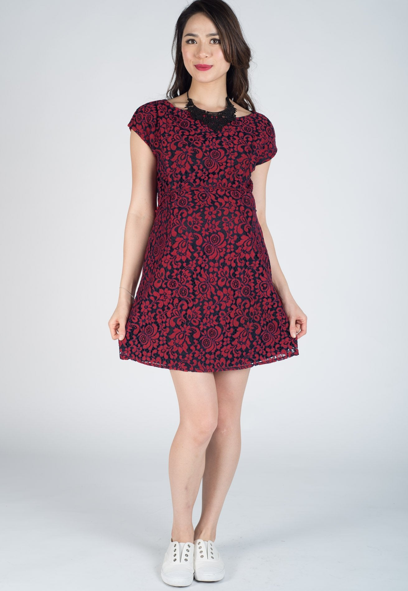 63f22ce757d8f SALE Chester Lace Nursing Dress by Jump Eat Cry - Maternity and nursing wear