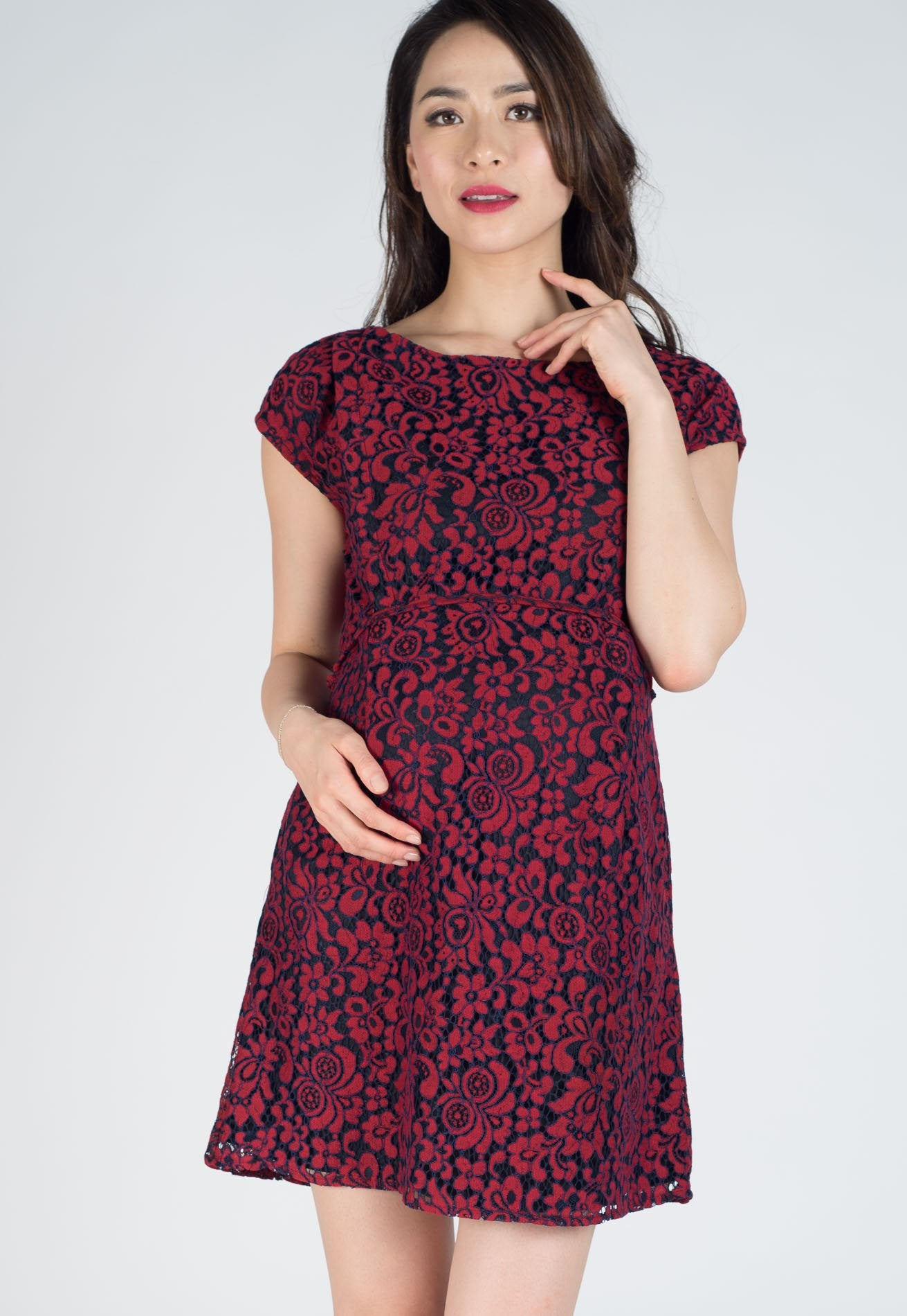 799d782c732ba ... SALE Chester Lace Nursing Dress by Jump Eat Cry - Maternity and nursing  wear ...