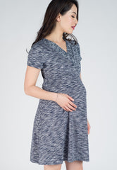 Conley Stripes Empire Nursing Dress  by JumpEatCry - Maternity and nursing wear