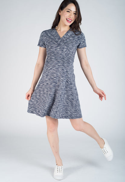 Conley Stripes Empire Nursing Dress
