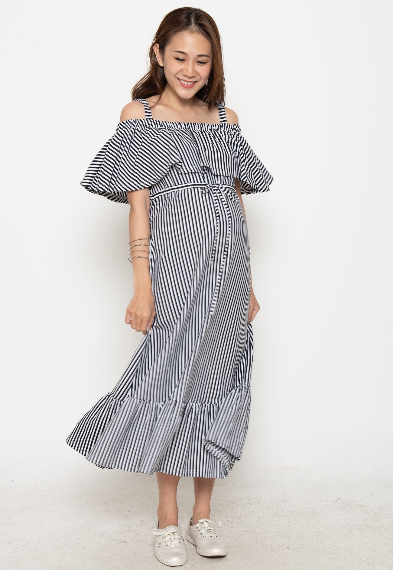 Mothercot Fayre Off The Shoulder Nursing Dress  by JumpEatCry - Maternity and nursing wear