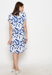 Amora Printed Nursing Dress  by Jump Eat Cry - Maternity and nursing wear