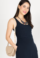 Knitted Nursing Swing Dress in Navy  by Jump Eat Cry - Maternity and nursing wear