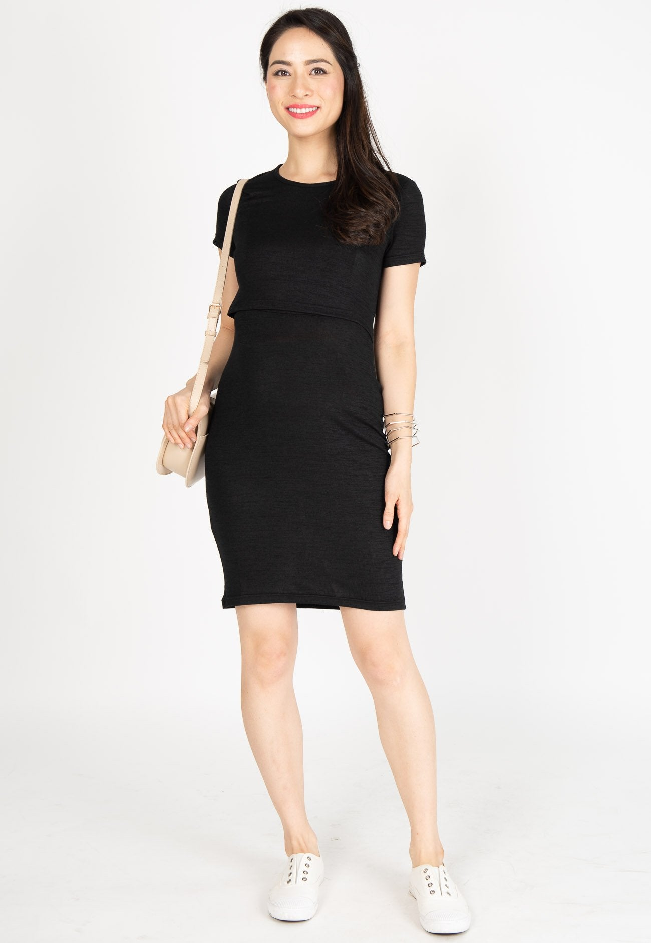 Mothercot Ever Comfort Nursing Dress in Black  by JumpEatCry - Maternity and nursing wear