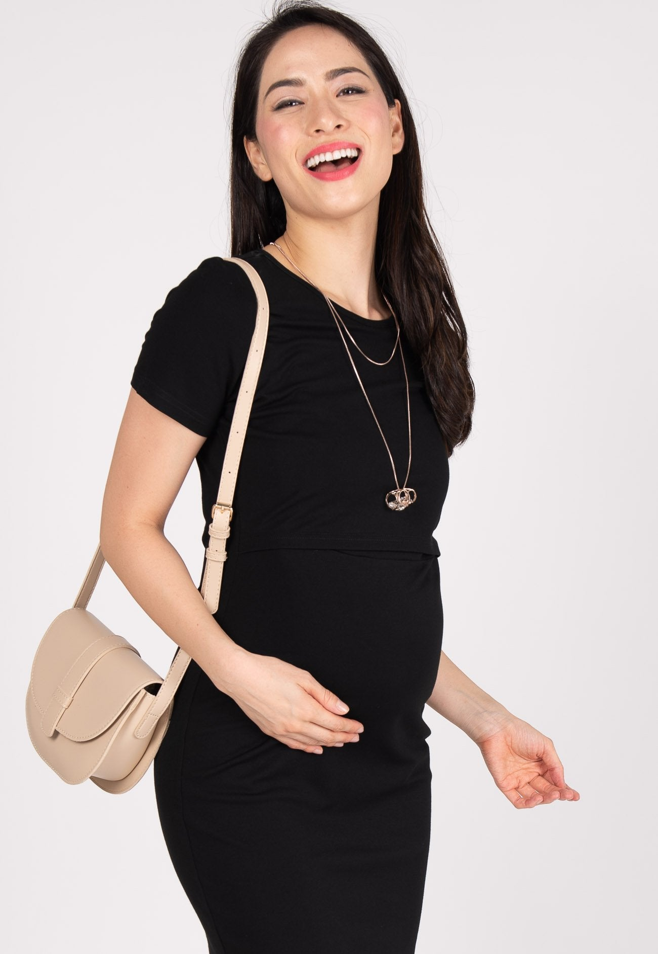 Ready To Go Nursing Dress in Black  by JumpEatCry - Maternity and nursing wear