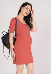 Seize The Day Nursing Dress in Red