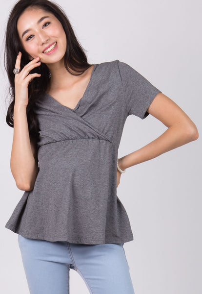 Grey Empire Nursing Top