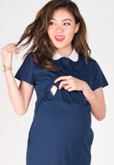 Polo Nursing T-Shirtdress  by Jump Eat Cry - Maternity and nursing wear