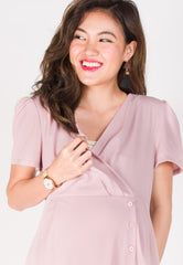 Miles Of Smiles Nursing Dress in Pink  by JumpEatCry - Maternity and nursing wear