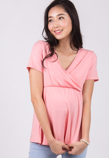 SALE Pink Empire Nursing Top