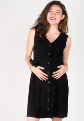 Believe You Can Nursing Dress in Black  by JumpEatCry - Maternity and nursing wear