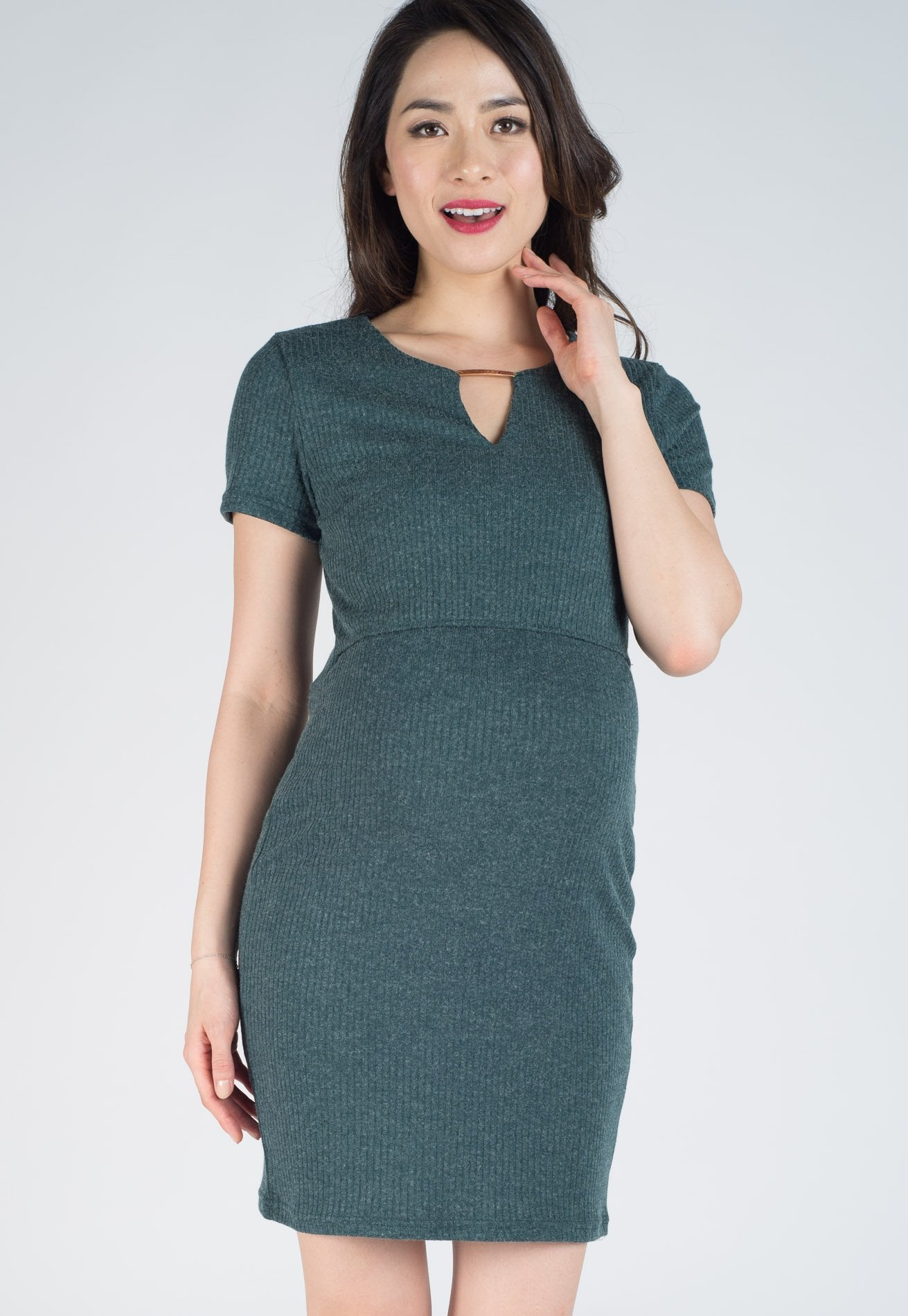 c3d5e33bd21 ... SALE Forest Nelya Ribbed Knitted Nursing Dress by Jump Eat Cry -  Maternity and nursing wear ...