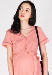 Shreya Comfy Nursing Romper in Pink Nursing Wear Mothercot