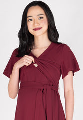Amrita Nursing Dress in Red  by Jump Eat Cry - Maternity and nursing wear