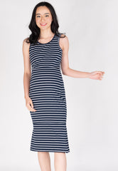Bring Me Out Nursing Dress in Navy  by JumpEatCry - Maternity and nursing wear