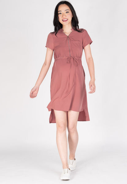 Love And Laughter Nursing Dress in Pink