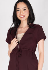 Love And Laughter Nursing Dress in Maroon Nursing Wear Mothercot