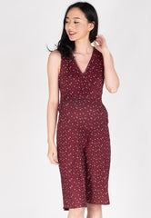 Floral 3/4 Nursing Jumpsuit  by Jump Eat Cry - Maternity and nursing wear
