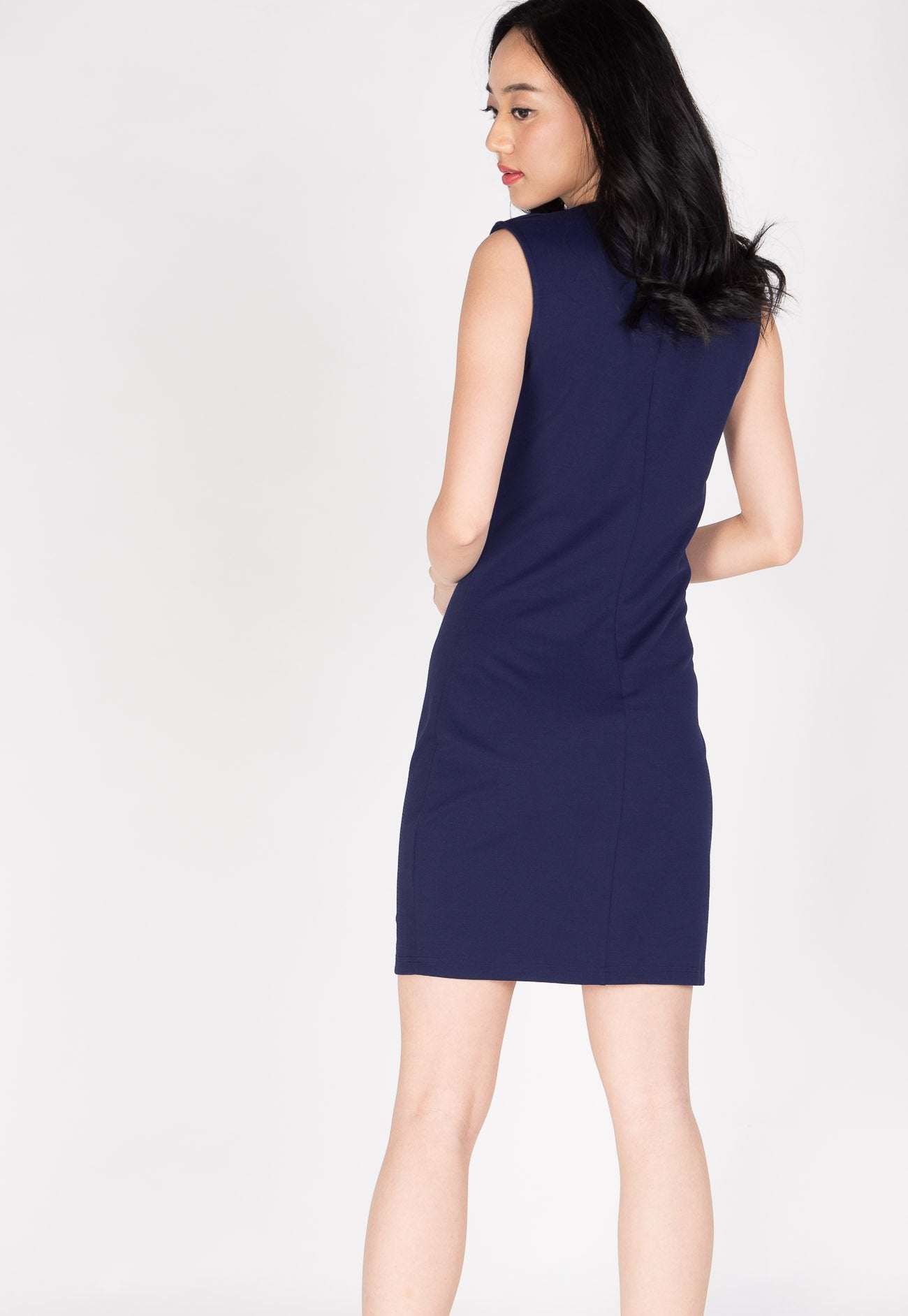 d16cfb5f95f37 ... Belva Chain Nursing Dress in Navy by Jump Eat Cry - Maternity and nursing  wear