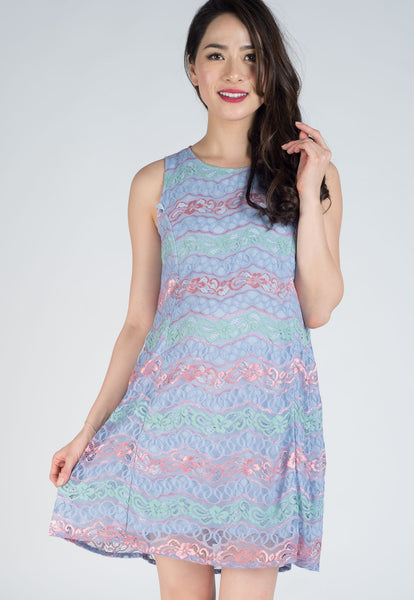 Claudette Lace Nursing Dress
