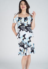 SALE Floral Fishtail Nursing Dress  by Jump Eat Cry - Maternity and nursing wear
