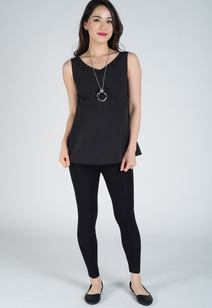 Black V-Neck Nursing Top