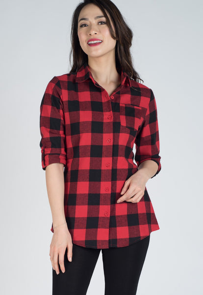 Checkered Nursing Shirt