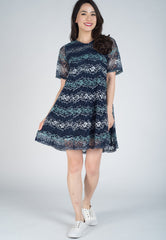 SALE Kimono Sleeves Lace Nursing Dress  by Jump Eat Cry - Maternity and nursing wear