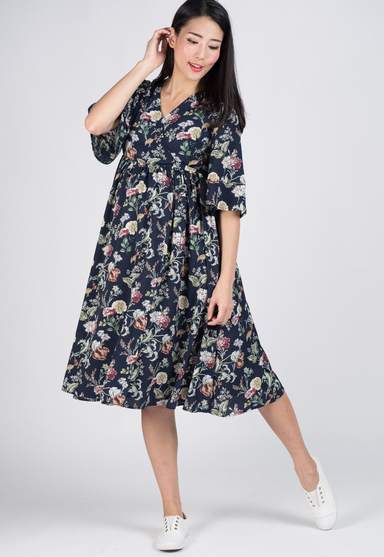 e218cbfee8d Mothercot SALE Sleeves Floral Nursing Dress by JumpEatCry - Maternity and nursing  wear