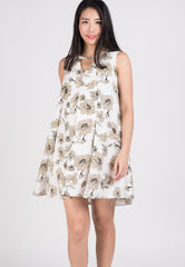 Mothercot White Floral Nursing Dress  by JumpEatCry - Maternity and nursing wear