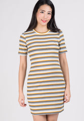Yellow Tazza Knitted Bodycon Nursing Dress  by Jump Eat Cry - Maternity and nursing wear